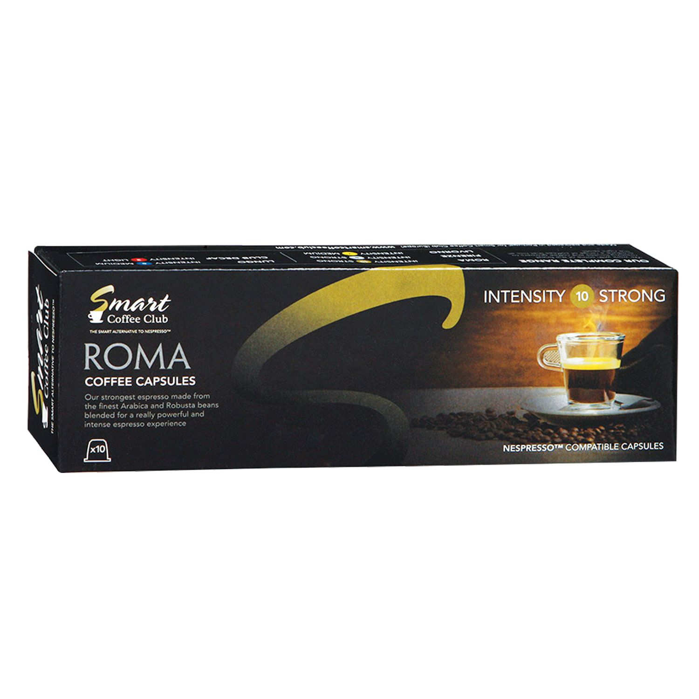 "NESPRESSO / Capsules for coffee machines ""Roma"", natural coffee, 10 pcs. х 5 g, SMART COFFEE CLUB"
