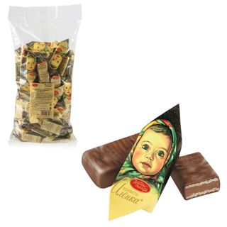"""RED OCTOBER / Chocolate sweets """"Alenka"""", wafer, milk-nut, 1000 g, package"""
