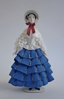 Doll gift. Carnival costume 'CHIARINA' according to the sketches of Bakst.