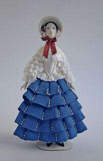 """Doll gift. Carnival costume """"CHIARINA"""" according to the sketches of Bakst."""