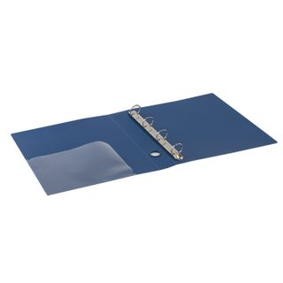 Folder on 4 rings BRAUBERG Standard, 40 mm, blue, up to 300 sheets, 0.9 mm