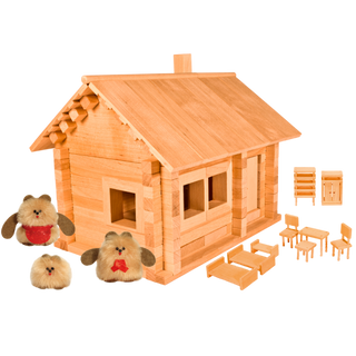 Designer Hut three bears with doll and furniture, 139 elements, Pelsi