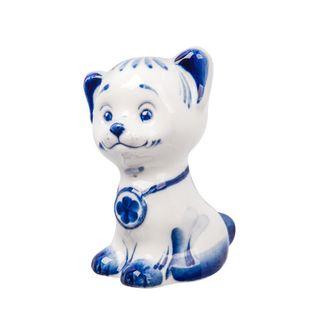 The sculpture is Boyfriend number 3 of the little 1st grade, Gzhel Porcelain factory