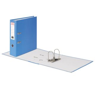 Folder-Registrar BRAUBERG with a coating of PVC, 80 mm, corner, blue (double life)