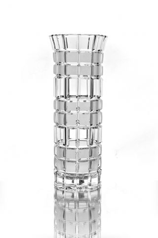 "Crystal vase for flowers ""Beads"" small colorless"