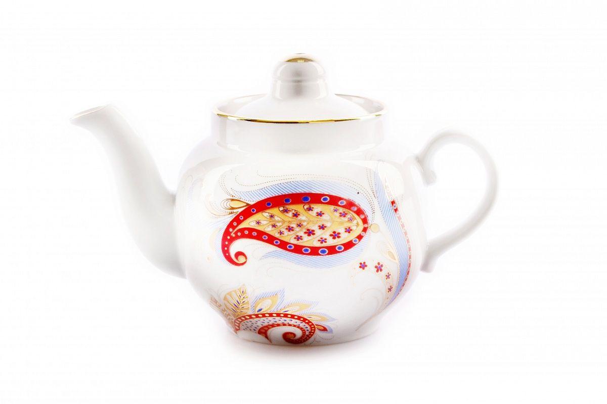 Dulevo Porcelain / Teapot 350 ml Amber Firebird Feather
