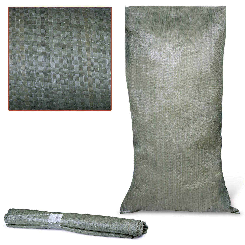 Polypropylene bags up to 50 kg, set of 10 pcs., 105x55 cm, weight 52 g, secondary raw materials, green