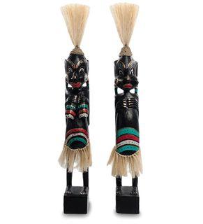"""Wooden statuette """"Asmat black"""" 50 cm"""