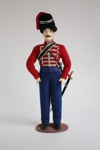 Doll gift. Officer of the don Cossack army in dress uniform. From the 1800's. Russia.