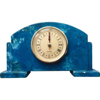 Arbet Marble / Mantel table clock Classic from marble Arbet ™ Lazurite (blue)
