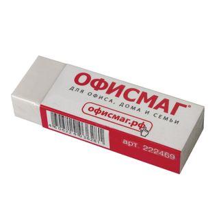 Eraser large FISMA, 60х20х11 mm, white, rectangular, thermoplastic rubber, cardboard holder
