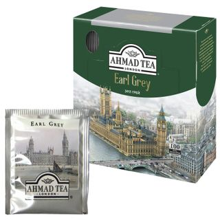 "AHMAD / Tea ""Earl Gray"", black with bergamot aroma, 100 sachets with tags 2 g each"