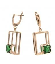 "Earrings 30751 ""Rectangle"""