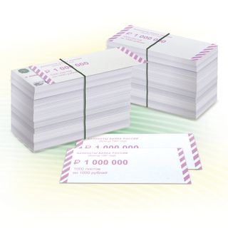Overlays for packing banknote spines, set of 2000 pcs., Face value of 1000 rubles.
