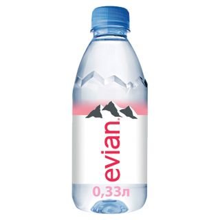 Still mineral water EVIAN (Evian), 0.33 l, plastic bottle