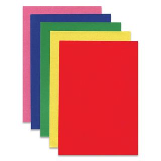 Cardboard color SMALL FORMAT, A5, VELVET, 5 sheets 5 colors, 180 g/m2, INLANDIA,