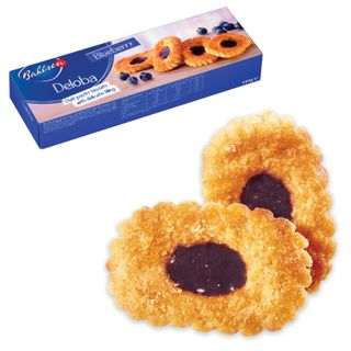 """BAHLSEN / Cookies """"Deloba"""" puff with blueberries, 100 g, Germany"""