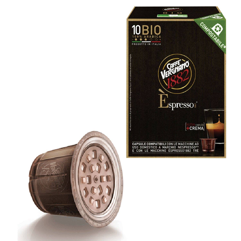 NESPRESSO / Capsules for coffee machines Bio 100% Arabica, natural coffee, 10 pcs. x 5 g, VERGNANO