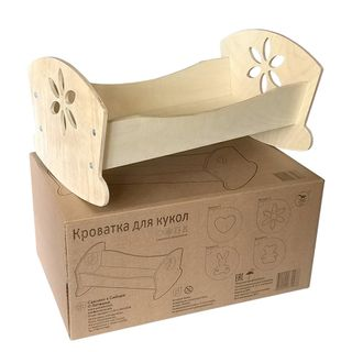 Cot for dolls wooden