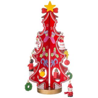"""Wooden figurine """"Christmas Tree red toy"""""""