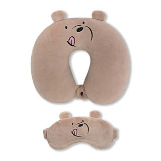 Neck pillow. With the sleep mask. Bear (2)