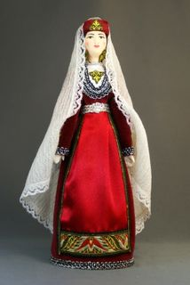 Doll gift porcelain. Armenia. The Eastern areas. Maiden traditional costume. Late 19th-early 20th century.