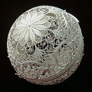"Souvenir ""Shar"", Kazakov filigree, silver plating"
