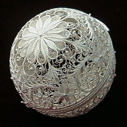 """Kazakov Filigree / Souvenir """"Ball"""" silvering"""