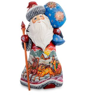 "Wooden figure ""Santa Claus with a stick"" 30 cm"