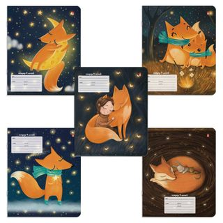 "Notebook 18 sheets ALT line, foil stamping, ""MAGIC FOXES"" (5 types)"