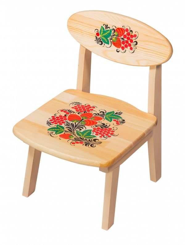 The wooden kids chair from an array of artistic painting, 0 growth category