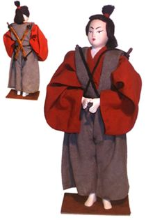 Doll gift. Samurai. 15th century. Japan.