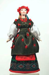 Doll gift porcelain. Chernigov province. Russia. Maiden costume. Конец19-n. 20.