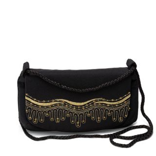 "Bag ""Sea"" of black color with Golden embroidery"