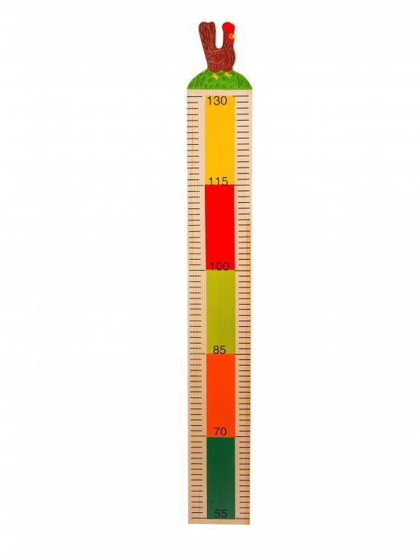 Wooden height chart 'the chicken'