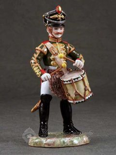 Grenadier Drummer Majolica Sculpture