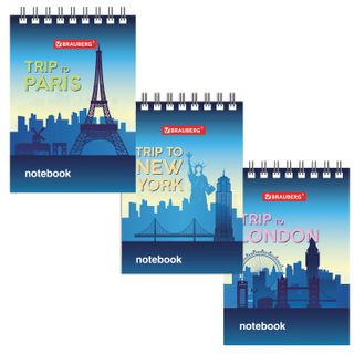 Small FORMAT Notebook (75 x 105 mm) A7, 40 sheets, comb, cardboard, cage, BRAUBERG,