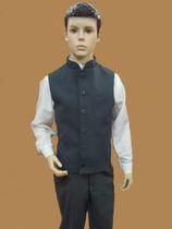 Vest-jacket for boy, half-visor