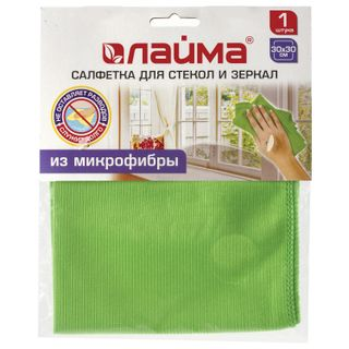 LIMA / Cloth for glasses and mirrors, smooth microfiber, 30x30 cm, green