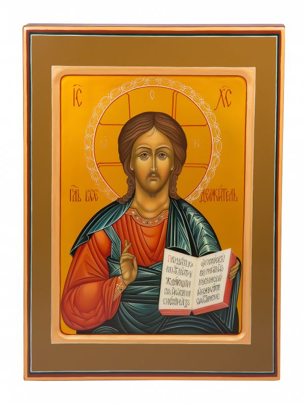 "Khokhloma painting / Icon ""Lord Almighty"" 245х335 mm"