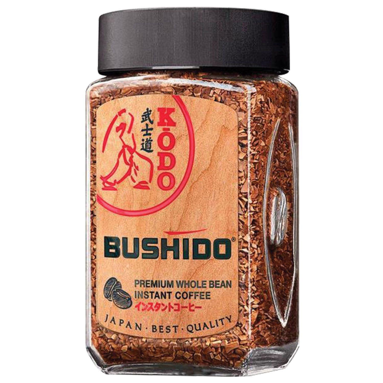 """BUSHIDO / Ground coffee in instant """"Kodo"""" freeze-dried, 95 g, 100% Arabica, glass jar"""