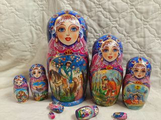 Author's matryoshka FAIRY TALE, 10 dolls