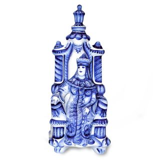 Damask Princess with lid 0.5 l, Gzhel Porcelain factory