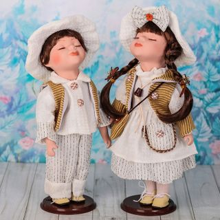 "Dolls porcelain ""In white outfits"""