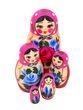 Matryoshka 5 dolls unconventional, Golden Khokhloma - view 1