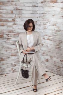 Linen jacket, female