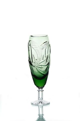 "A set of crystal glasses for champagne ""Nut"" herbal 6 pieces"