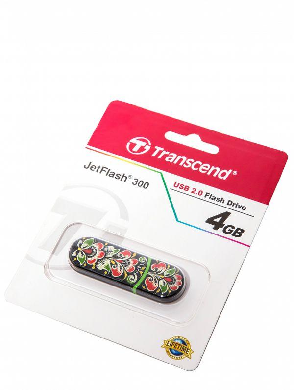 USB drive with Khokhloma painting 4 GB