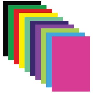 Coloured paper, A4, coated (glossy), 20 sheets 10 colors, in a folder, TREASURE ISLAND, 210x297 mm