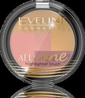 Multi color blush palette No. 03 series all in one, Eveline
